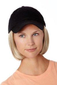 Baseball hat with hair