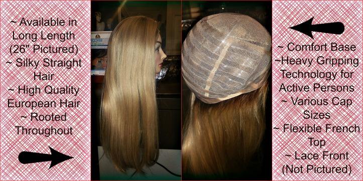Long Blonde Alopecia Wig